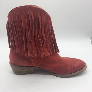 cdfe8ae6d DIBA Casper Boots w/ Fringe    Burnt Orange   8.5